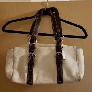 Coach Chelsea Winter White Pebbled Leather Handbag